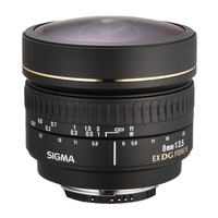 Sigma 8mm f/3.5 EX Fisheye Lens - Canon Fit