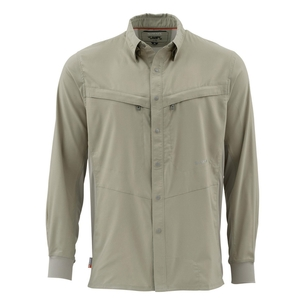 Image of Simms Intruder Bicomp Long Sleeved Shirt - Dark Khaki