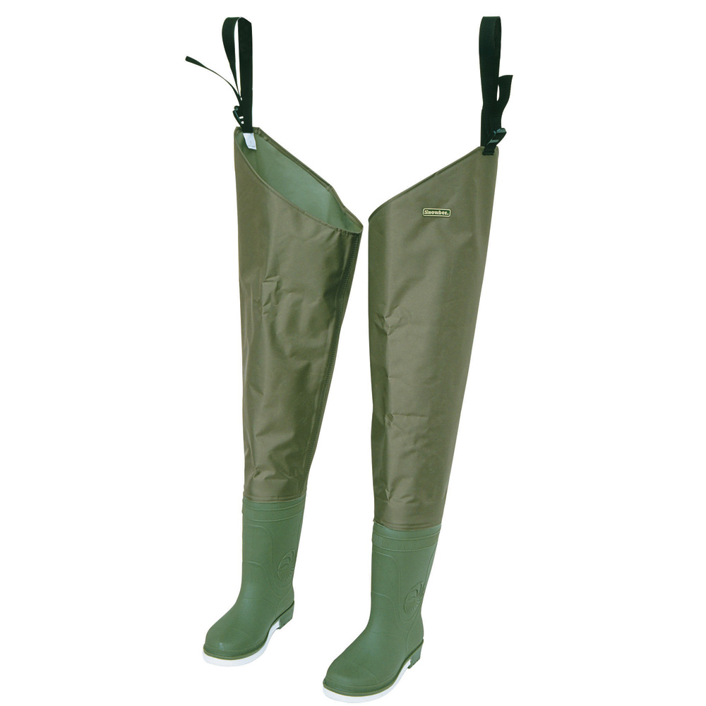 Snowbee 210D Nylon Thigh Waders - Cleated Sole
