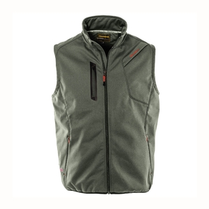 Image of Snowbee Breeze-Bloc Waterproof/Breathable Soft Shell Gilet - Dark Olive