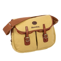 Snowbee Cotton Twill Canvas And Leather Heritage Fishing Bag