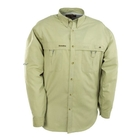 Image of Snowbee Long Sleeved Fishing Shirt - Putty