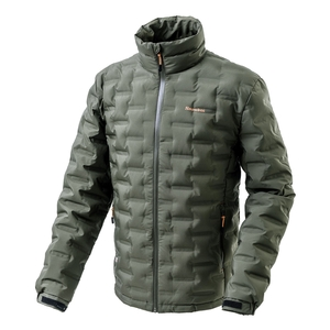 Image of Snowbee Nivalis Down Jacket - Collar Model - Dark Olive