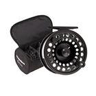 Image of Snowbee Onyx Cassette Fly Reel #5/7 - plus 3 Spare Cassette Spools in Reel Case - Black