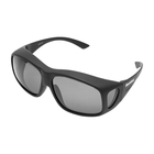 Image of Snowbee Prestige Over-Specs Polarised Sunglasses - Matte Black / Smoke