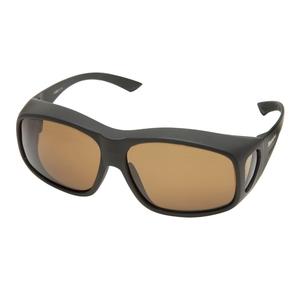 Image of Snowbee Prestige Over-Specs Sunglasses - Matte Black / Amber