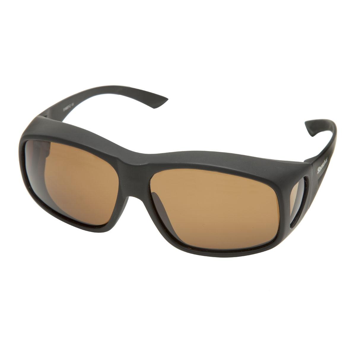 9480f4dda5 Image of Snowbee Prestige Over-Specs Sunglasses - Matte Black   Amber