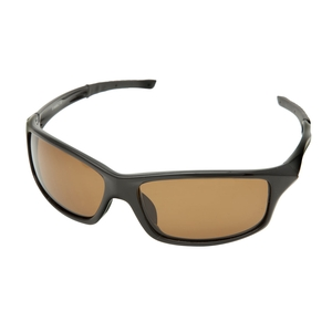 Image of Snowbee Prestige Streamfisher Polarised Sunglasses - Gloss Black / Amber