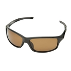 Image of Snowbee Prestige Streamfisher Sunglasses - Gloss Black / Amber
