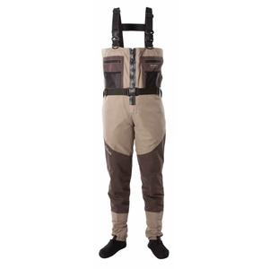 Image of Snowbee Prestige ST Breathable Zip-Front Stockingfoot Chest Waders - 2-Tone Tan