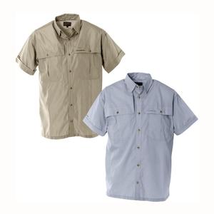 Image of Snowbee Solaris Short Sleeve Fishing Shirt - Savanna