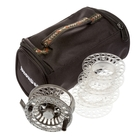 Image of Snowbee Spectre Cassette Fly Reel #7/8 With 3 Spare Spools And Reel Bag - Black