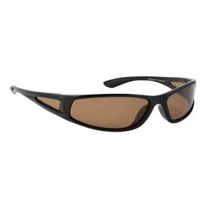 Image of Snowbee Sports 'Wraparound' Polarised Sunglasses with Polarised Side Panels - Black (Frame) - Amber (Lens)