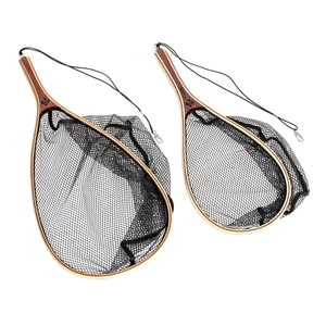 Image of Snowbee Wooden Frame Hand Trout Net With Rubber-Mesh