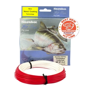 Image of Snowbee XS-Plus Wt Forward Competition Long Cast Fly Line - Ivory Red
