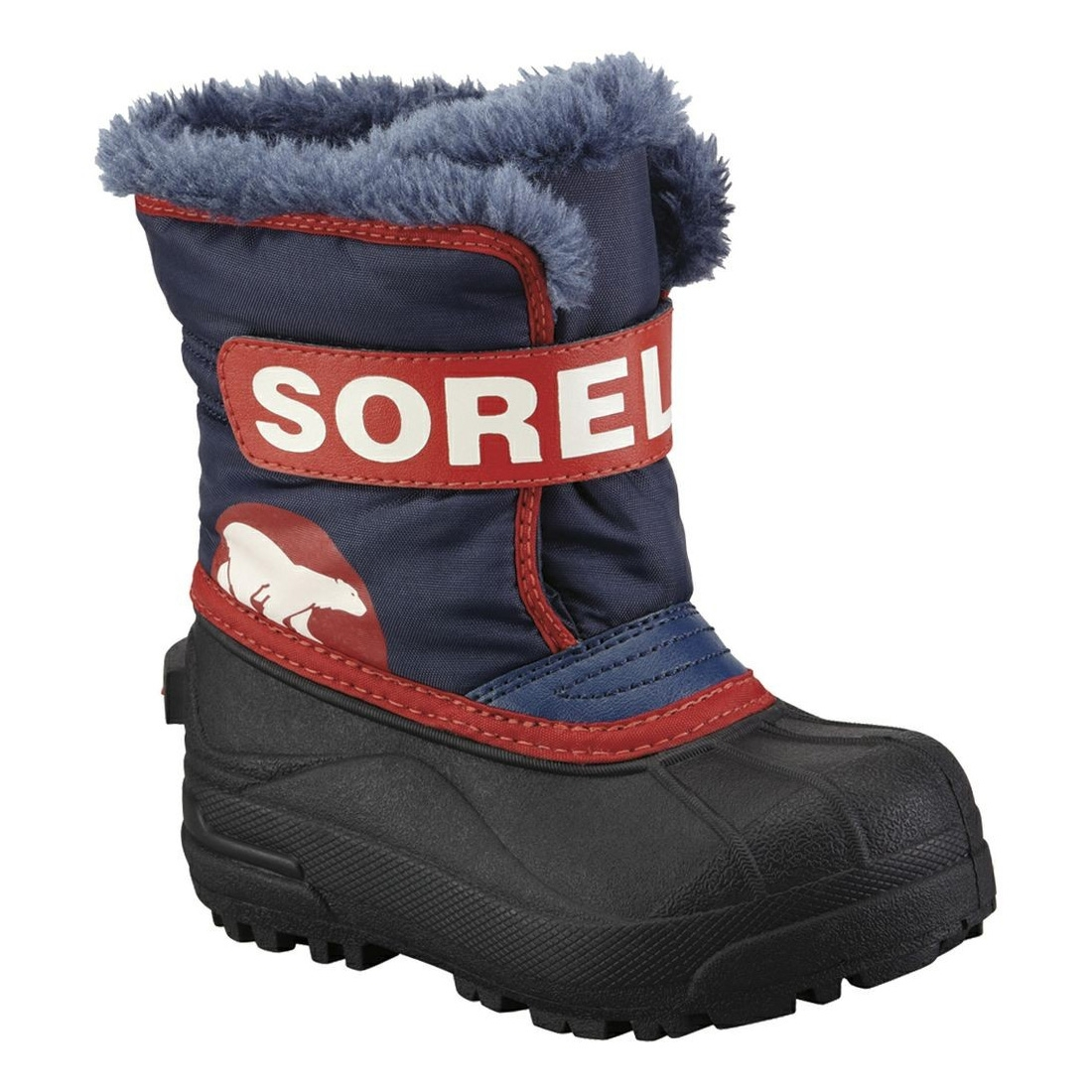 7ac77747cdd Image of Sorel Children s Snow Commander Boots - Nocturnal   Sail Red