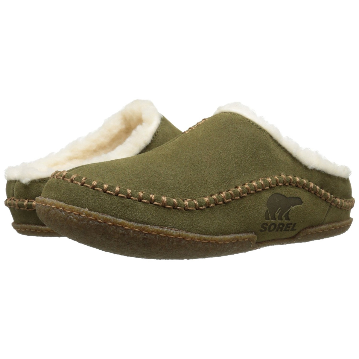 69d79c42cdfe Image of Sorel Falcon Ridge Slippers (Men s) - Olive Brown   Stout
