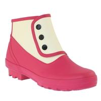 Spats Ankle Plain Classic 2 Tone Rubber Boots (Women's)