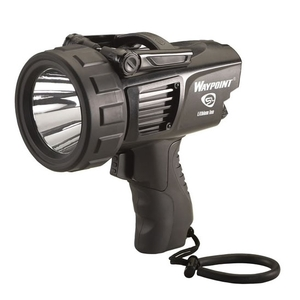 Image of Streamlight Waypoint Rechargeable Handheld Searchlight (240v/12v) - Black
