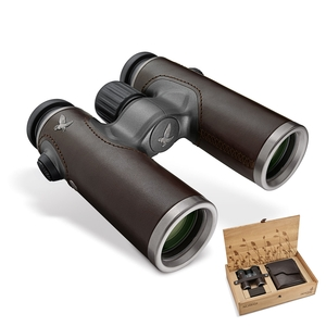 Image of Swarovski CL Companion Nomad 8x30 Binoculars - Leather Armouring - Brown Leather