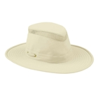 Image of Tilley Broad Curved Brim Lightweight Airflo Hat - Natural With Forest Green Underbrim