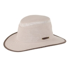 Image of Tilley Intermediate Curved Brim Mash-Up Hat - Sand With Brown Trim