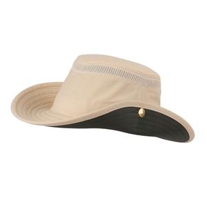 Image of Tilley Medium Brim Snap-Up Lightweight Airflo Hat - Natural/Green