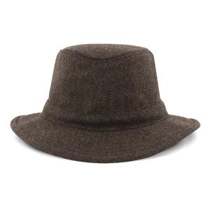 Image of Tilley Medium Curved Brim Winter Hat - Tec-Wool - Olive Herringbone