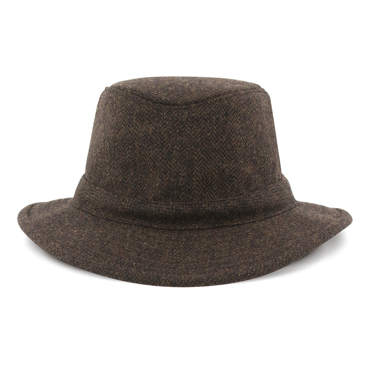 Image of Tilley Medium Curved Brim Winter Hat - Tec-Wool - Olive  Herringbone. « 1eff5d21e66