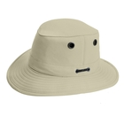 Image of Tilley Medium Curved Brim Breathable Nylon Hat - Stone With Taupe Underbrim
