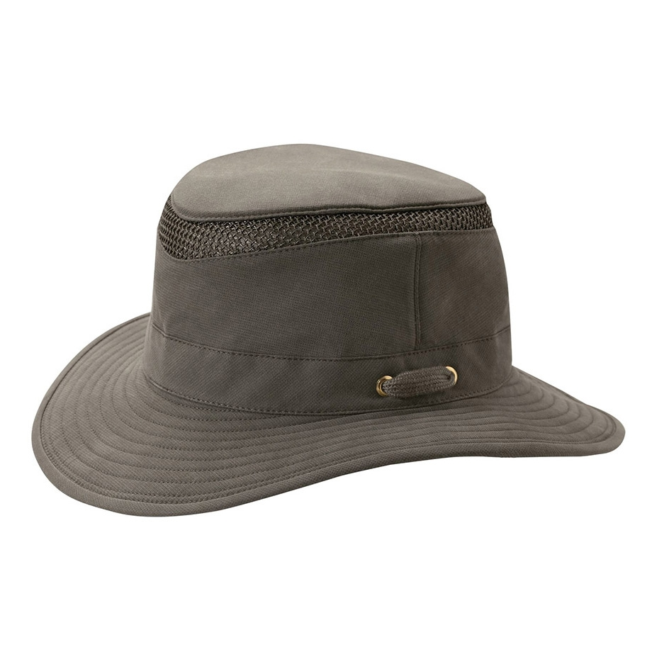 091f9321916 Image of Tilley Medium Curved Brim Organic Cotton Airflo Hat - Olive