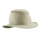 Image of Tilley Medium Curved Brim Lightweight Airflo Hat - Khaki With Olive Green Underbrim