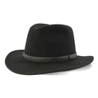 Image of Tilley Montana Fedora Hat - Wool Felt - Black
