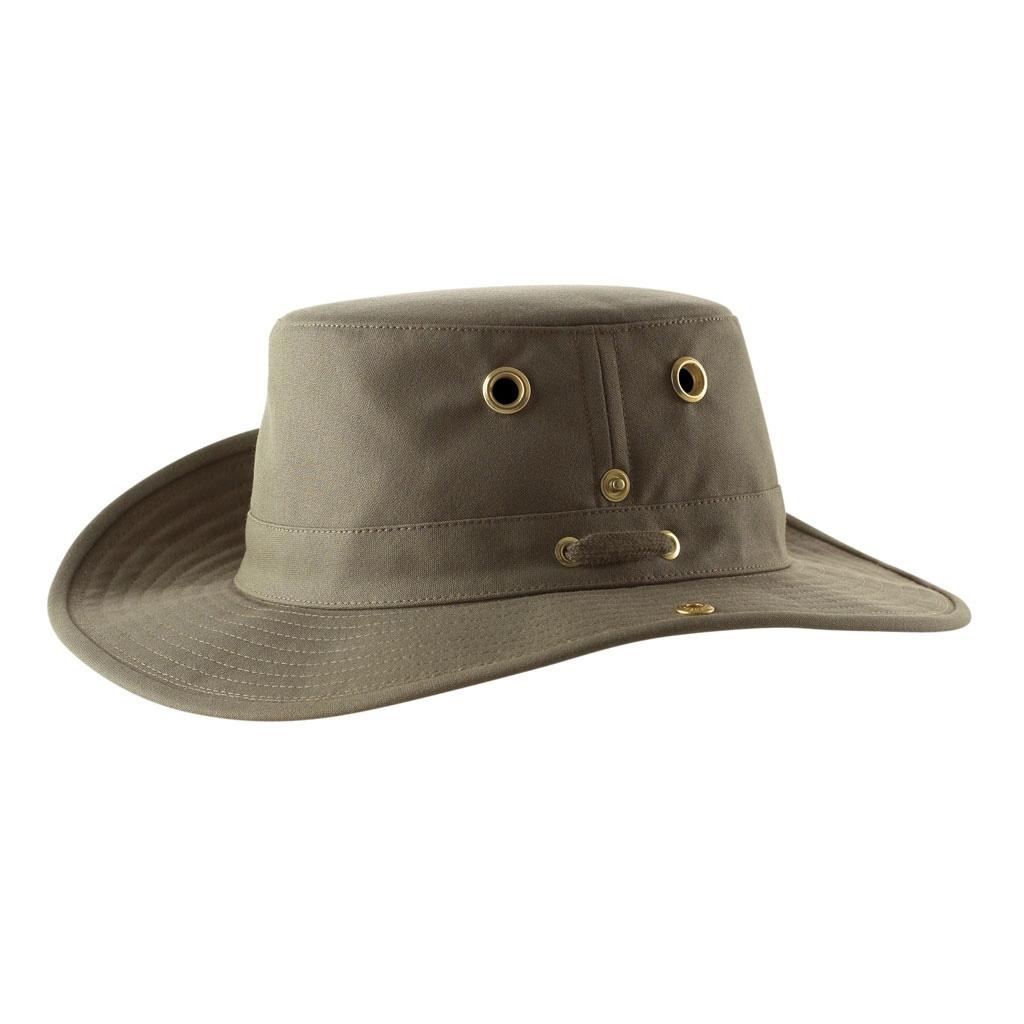 b8b315ba Tilley Medium Brim Snap Up Hat - Olive | Uttings.co.uk