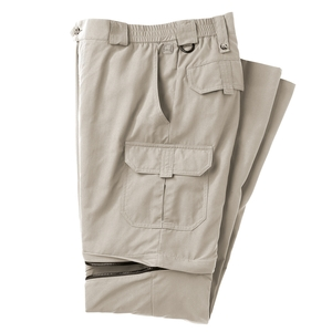 Image of Tilley Zip Off Trousers (Men's) - Pebble