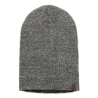 Image of Timberland Beanie With Leather Logo Patch (Men's) - Light Grey