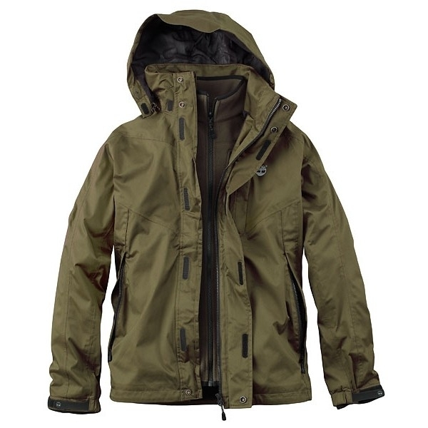 fdc4be14cf5d Image of Timberland Benton 3 in 1 Jacket - Military Olive