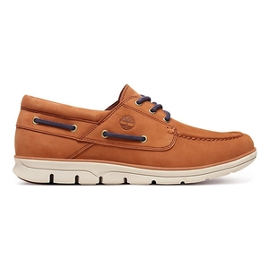 Image of Timberland Bradstreet 3 Eye Boat Shoes (Men's) - Medium Brown Nubuck