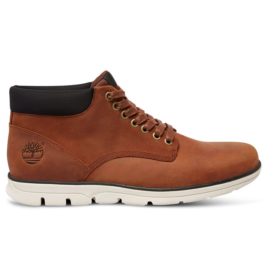 f6491c9aae0c Image of Timberland Bradstreet Chukka Leather Casual Boots (Men s) - Red  Brown FG