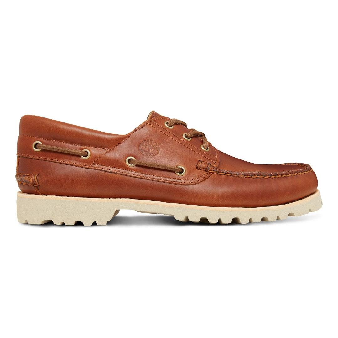 dfed3718f626e Image of Timberland Chilmark 3 Eye Handsewn Deck Shoes (Men's) - Sahara  Brando
