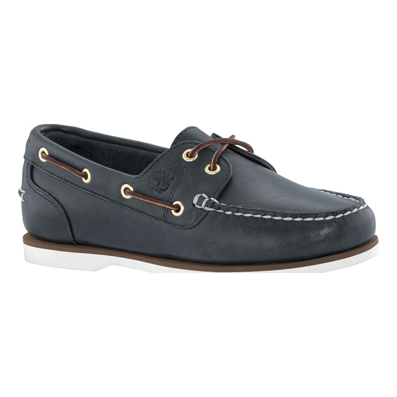 excellent quality uk store new styles Timberland Classic 2 Eye Boat Shoes (Women's) - Navy Smooth
