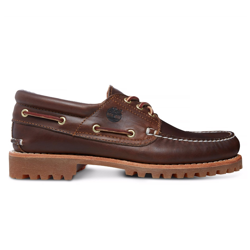 hot new products official site amazing price Timberland Classic 3 Eye Lug Boat Shoe (Men's) - Brown Pull Up