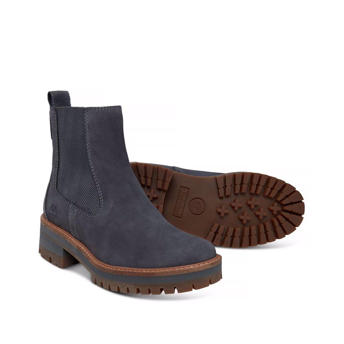 f881843053 Image of Timberland Courmayeur Valley Chelsea Boots (Women's) - Dark Grey  Nubuck ...