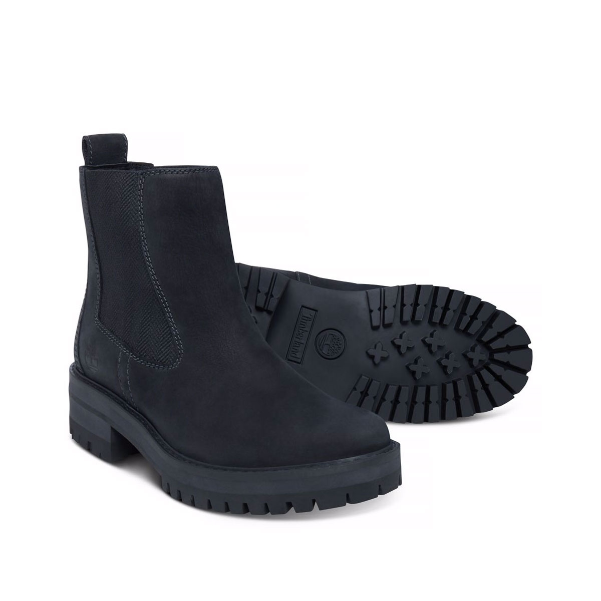 Image of Timberland Courmayeur Valley Chelsea Boots (Women s) - Black  Nubuck ... aa5d661b8c