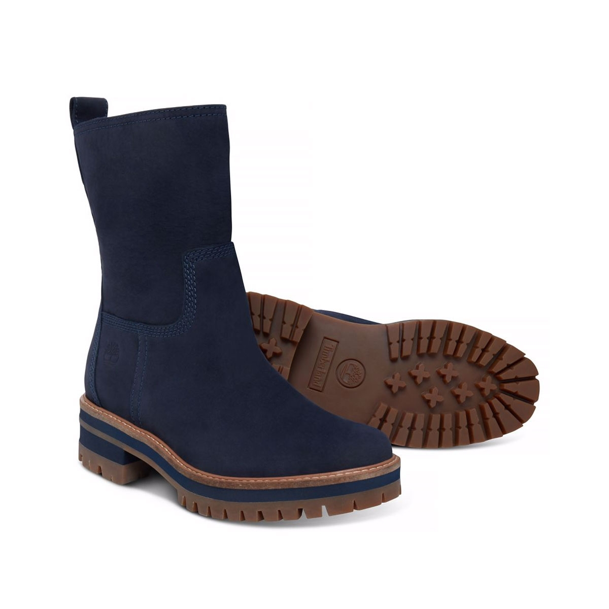 ea459ef3653c0 Image of Timberland Courmayeur Valley Mid Pull On Boots (Women's) - Navy  Nubuck