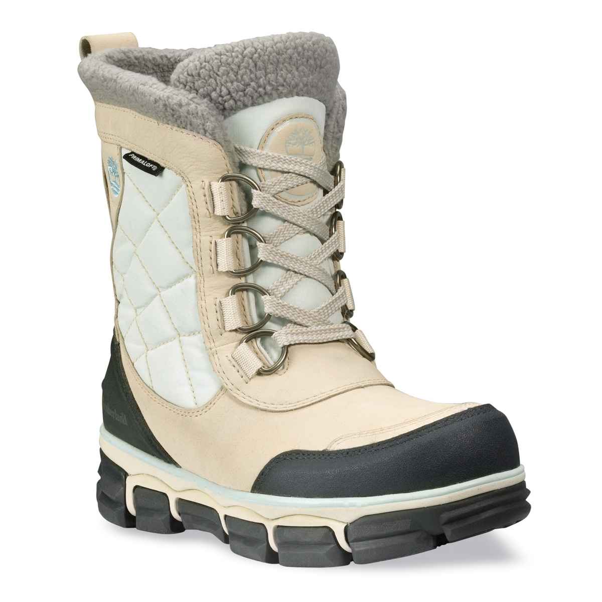 695c631d4cf Timberland Earthkeepers Mendon Mid Leather/Fabric WP Walking Boots  (Women's) - Winter White with White