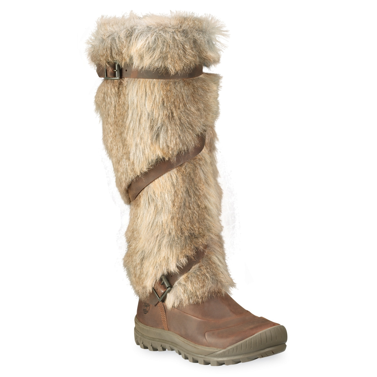 Image of Timberland Earthkeepers Mount Holly Tall Faux Fur Boot with Straps  (Women s) - 6f3b7622a