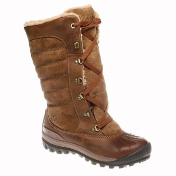 Image of Timberland Earthkeepers Mount Holly Leather Suede Tall Lace Duck  WP Boot (Women s 0ef87aec15f0