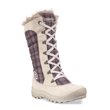 Image of Timberland Earthkeepers Mount Holly Tall Lace Duck WP Boot with  Faux Fur (Women s c0130e26c