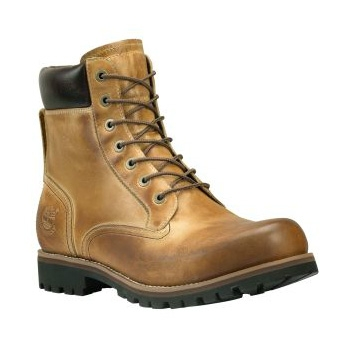 Timberland Earthkeepers Rugged 6 Inch Waterproof Plain Toe Boot (Mens) Golden Beige Roughcut
